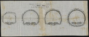 Diagrams of excavation and construction. Hoosac Tunnel, on the Troy and Greenfield R.R.
