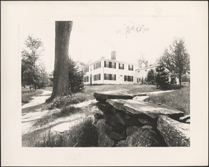 Chepin House (small with stone wall), Highway Post Road, Brookfield, Mass.