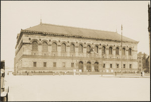 Boston Public Library and (New) Old South Church, Copley Square, Boston, Massachusetts