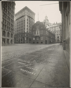 Old State House and the site of the Boston Massacre