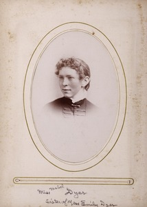 Newton High School, class of 1885 photographs - Miss Mabel Dyer, Sister of Miss Emily Dyer -
