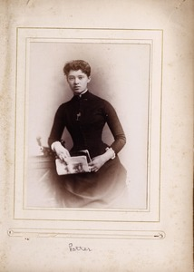 Newton High School, class of 1885 photographs - Potter (Female Student) -