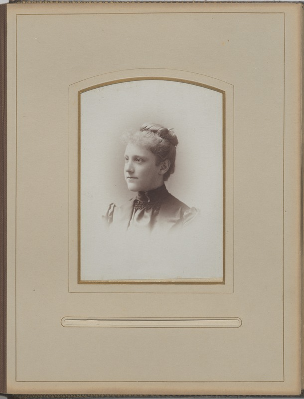 Newton High School, class of 1890 photographs - Unidentified Female Student -