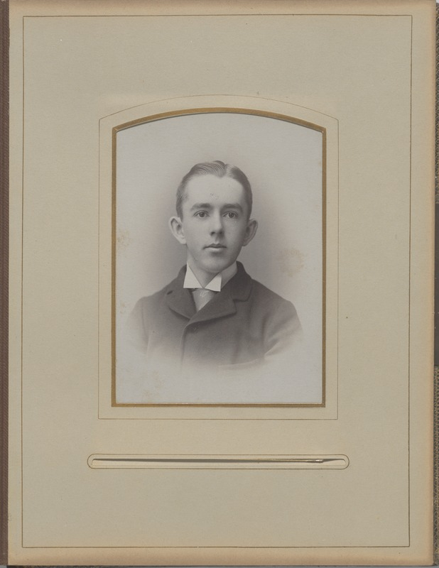 Newton High School, class of 1890 photographs - Unidentified Male Student -