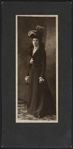 Newton High School Class of 1900 yearbook pictures plus reunion biographies, 1900 - - Alma E. Mick - Mrs. Everett C. Winslow -