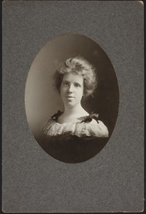 Newton High School Class of 1900 yearbook pictures plus reunion biographies, 1900 - - Bessie Bancroft -