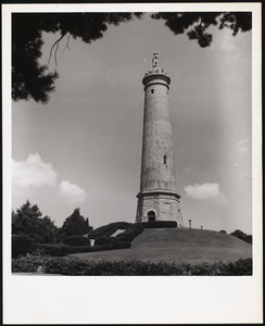 Myles Standish monument on the crest of Captain's Hill, Duxbury
