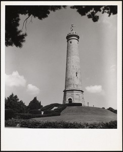 Myles Standish monument on the crest of Captain's Hill, Duxbury, Mass.