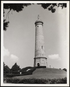 Myles Standish monument on the crest of Captain's Hill, Duxbury-