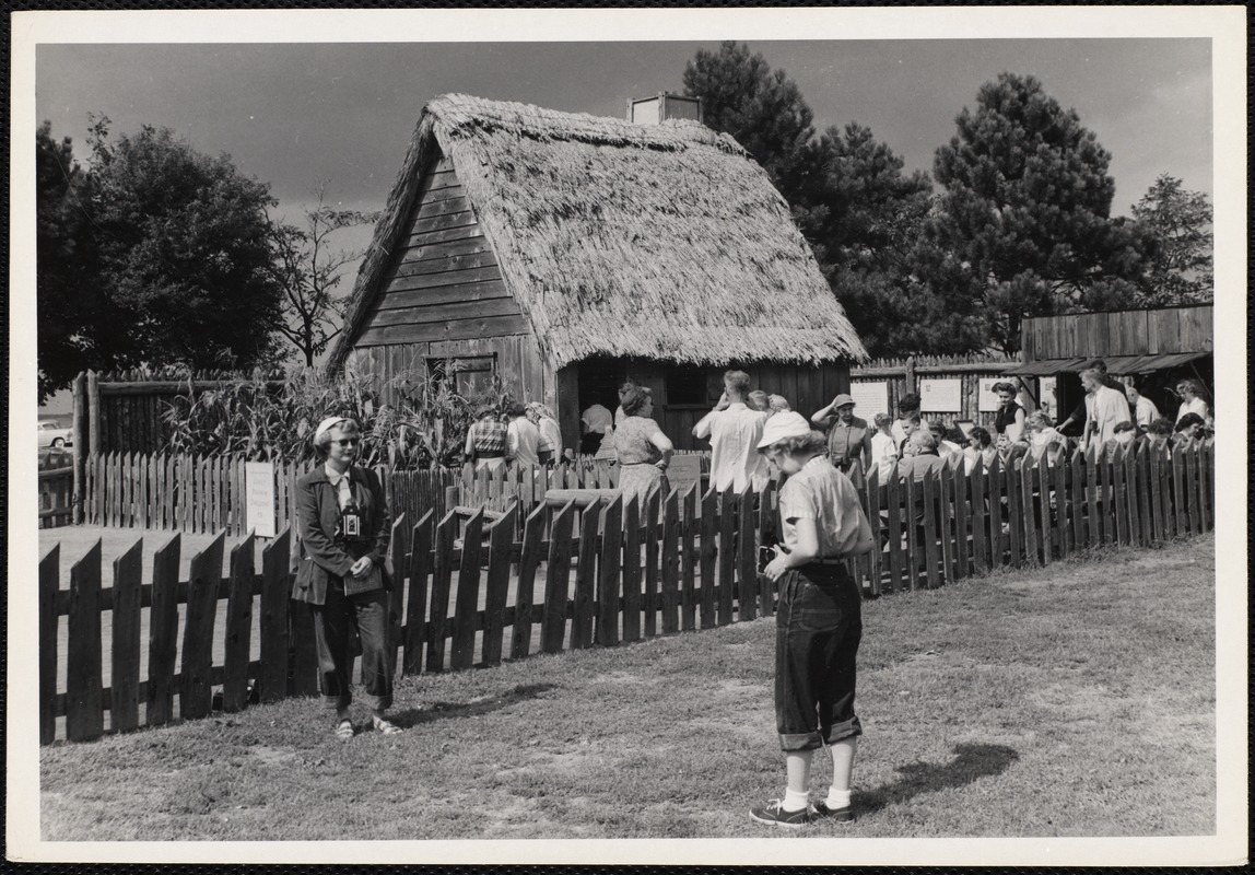Reproduction of early Pilgrim dwelling Plymouth, Mass.