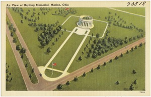 Air view of Harding Memorial, Marion, Ohio