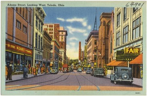 Adams Street, looking west, Toledo, Ohio