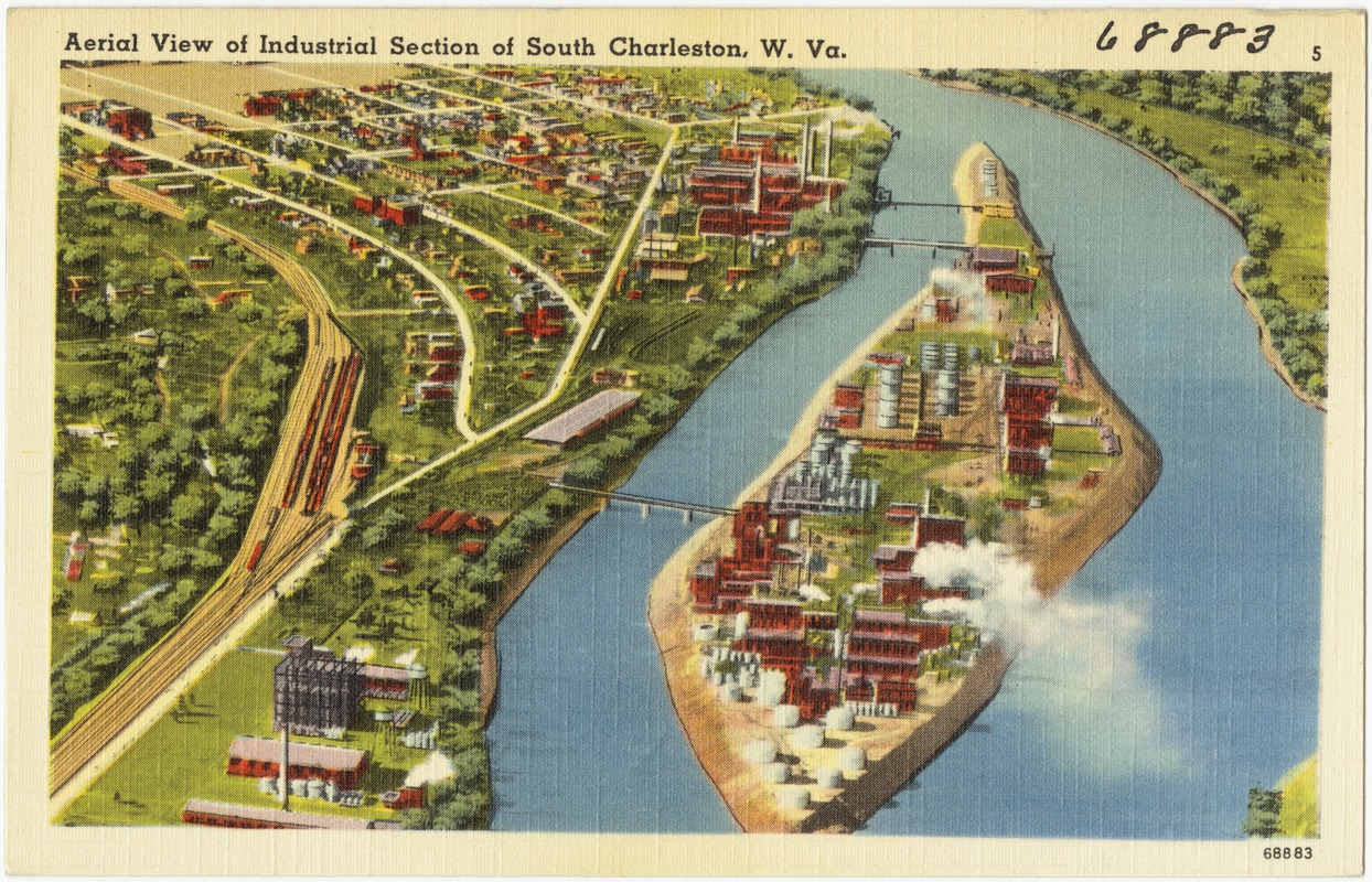 Aerial view of Industrial Section of South Charleston, W. Va.