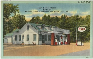 Bain's Service Station, Route 40, midway between McKenney and Stony Creek, Va.