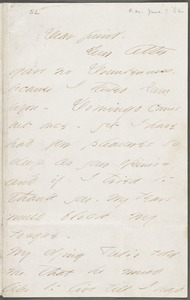 Emily Dickinson, Amherst, Mass., autograph letter signed to Thomas Wentworth Higginson, 7 June 1862