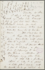 Thomas Wentworth Higginson, Amherst, Mass., autograph letter to Mary Channing Higginson, 16 August 1870