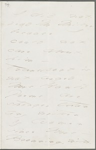 Emily Dickinson, Amherst, Mass., autograph letter signed to Thomas Wentworth Higginson, November 1871
