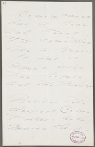Emily Dickinson, Amherst, Mass., autograph manuscript poem: Remembrance has a rear and front, 1871