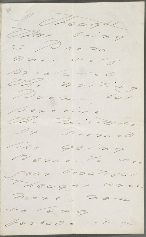 Emily Dickinson, Amherst, Mass., autograph letter to Thomas Wentworth Higginson, June 1874