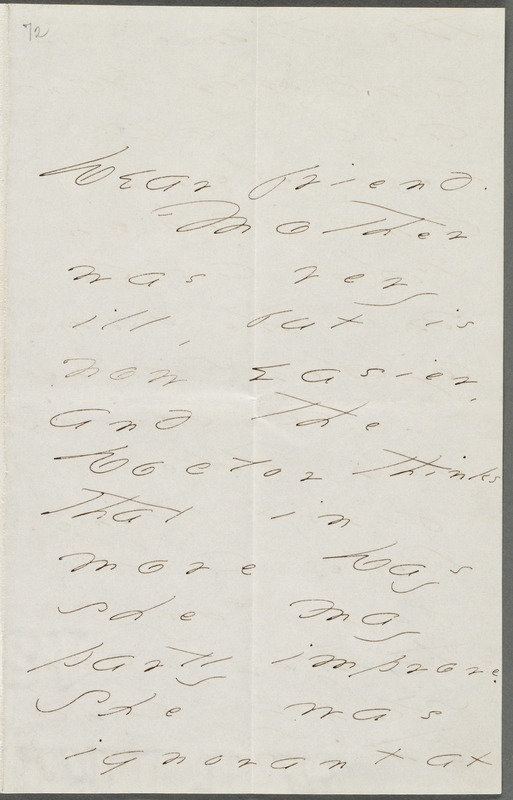 Your Scholar (Emily Dickinson), Amherst, Mass., autograph letter signed to Thomas Wentworth Higginson, July 1875