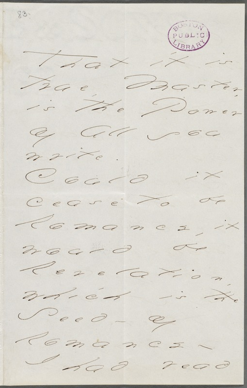 Your Scholar (Emily Dickinson), Amherst, Mass., autograph letter signed to Thomas Wentworth Higginson, January 1876