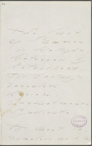 Emily Dickinson, Amherst, Mass., autograph manuscript poem: The last of Summer is delight, 1876