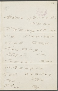 Your Scholar (Emily Dickinson), Amherst, Mass., autograph letter signed to Thomas Wentworth Higginson, Spring 1876