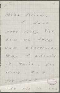 Emily Dickinson, Amherst, Mass., autograph letter to Mary Channing Higginison, Spring 1876