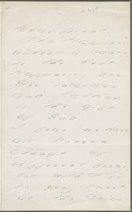 Emily Dickinson, Amherst, Mass., autograph letter to Mary Channing Higginson, late summer 1876