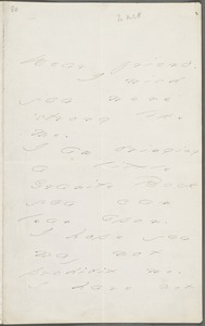 Emily Dickinson, Amherst, Mass., autograph letter to Mary Channing Higginson, Christmas 1876