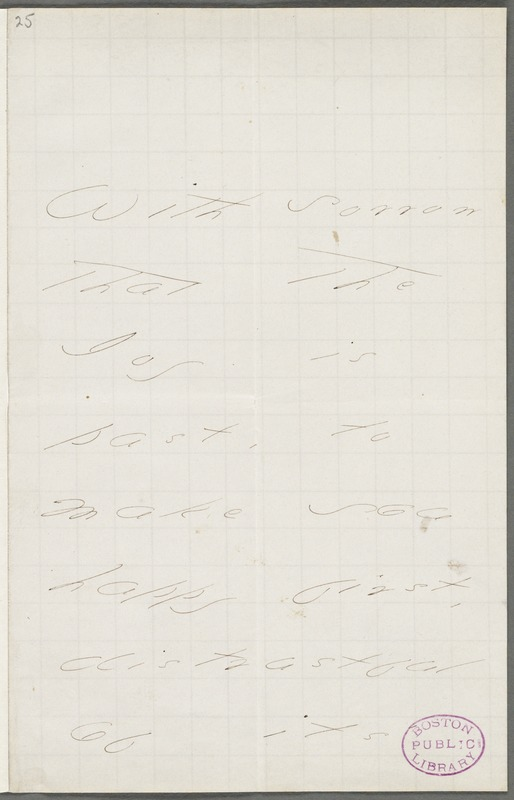 Your Scholar (Emily Dickinson), Amherst, Mass., autograph note signed to Thomas Wentworth Higginson, September 1877