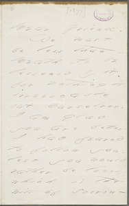 Emily Dickinson, Amherst, Mass., autograph letter to Thomas Wentworth Higginson, September 1877