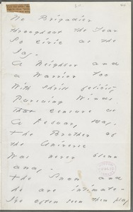 Emily Dickinson, Amherst, Mass., autograph manuscript poem: No brigadier throughout the year, 1883