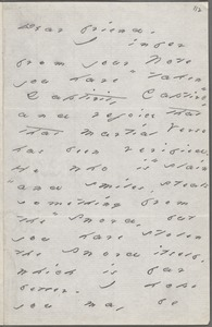 Emily Dickinson, Amherst, Mass., autograph letter signed to Helen Hunt Jackson, September 1884