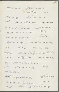 Your Scholar (Emily Dickinson), Amherst, Mass., autograph letter signed to Thomas Wentworth Higginson, February 1885