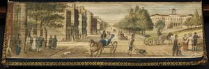 View of New York City, showing Broadway and the City Hall in the 1820s