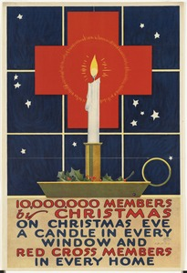 10,000,000 members by Christmas. On Christmas Eve a candle in every window and Red Cross members in every home