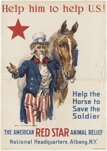 Help him to help U.S.! Help the horse to save the soldier