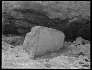 Wachusett Dam, first stone laid at Wachusett Dam, Clinton, Mass., Jun. 5, 1901