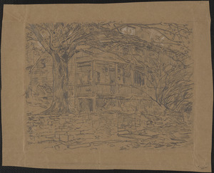 Study for The old house, Cos Cob