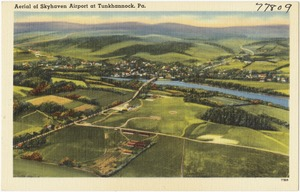 Aerial of Skyhaven Airport at Tunkhannock, Pa.