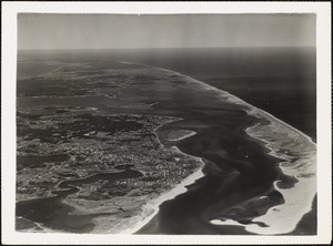 Chatham Mass looking north into Pleasant Bay-Old Naval Air Station property on left center