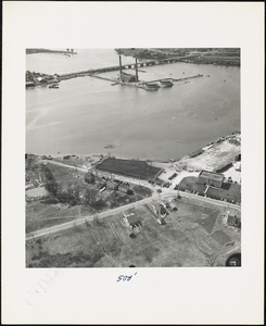 Aerial View of Naval Net Depot and Coast Guard Station