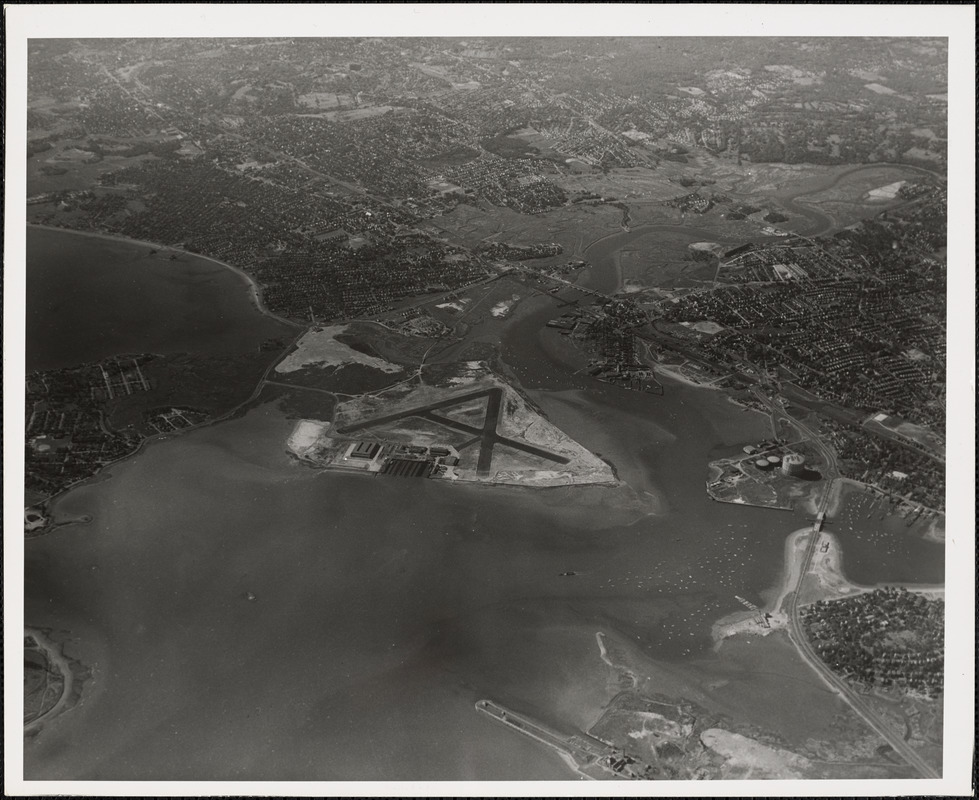 N.A.S.  Squantum, MA from North 10000 ft.