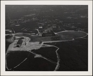 Aerial view of Naval Air Station looking North
