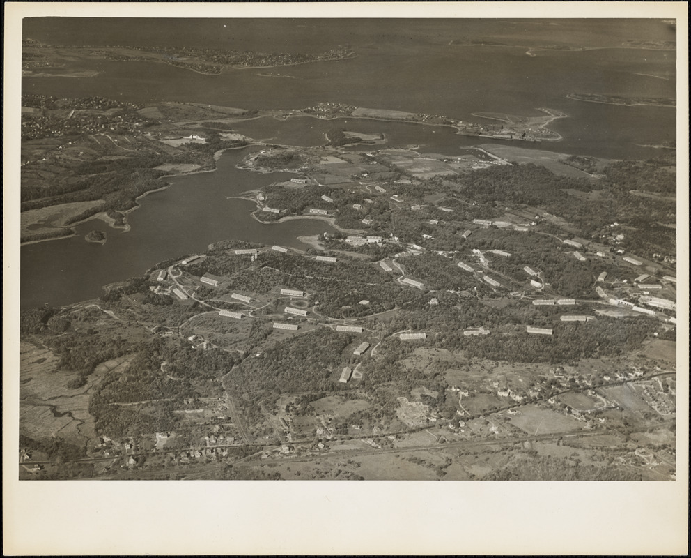 Aerial view of Naval Ammunition Depot