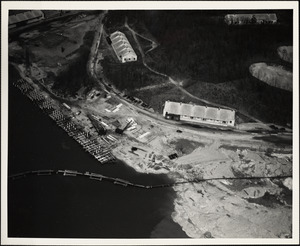 Construction of new dock at USNAD, Hingham