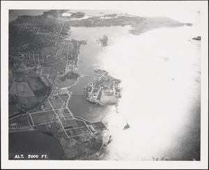 Coasters Harbor Island-view from north-5000 ft.