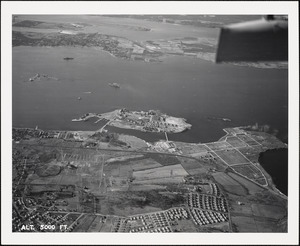 Coasters Harbor Island-view from east-5000 ft.
