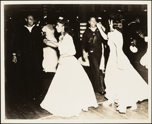 Dance at Frontier Base for Negro Personnel. 40 Girls from Boston.  Negro Band from Squantum Naval Station or Quonset